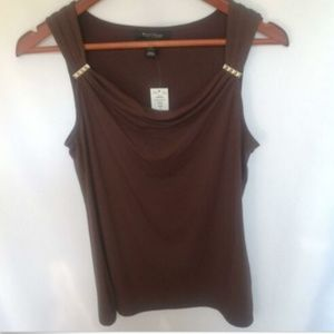 White House Black Market Cowl Neck Sleeveless Tank
